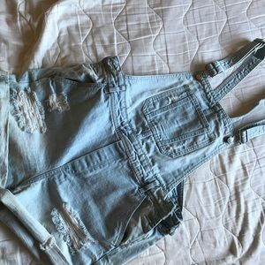 H&M Distressed shirts overalls size 12